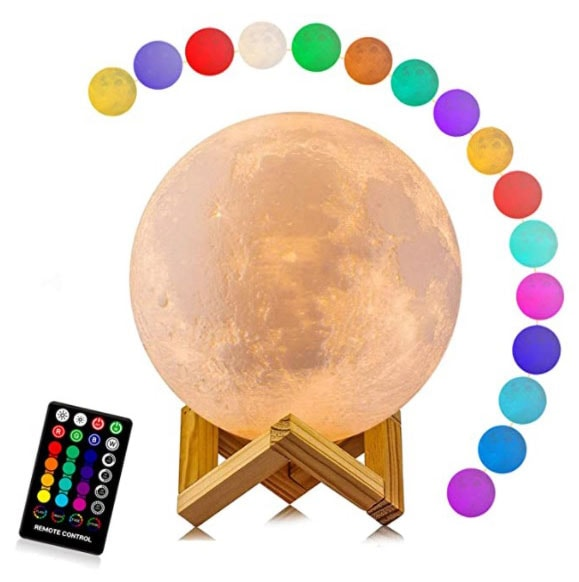 Moon lamp Galaxdream, 16 colors, 3D printing moon light technology