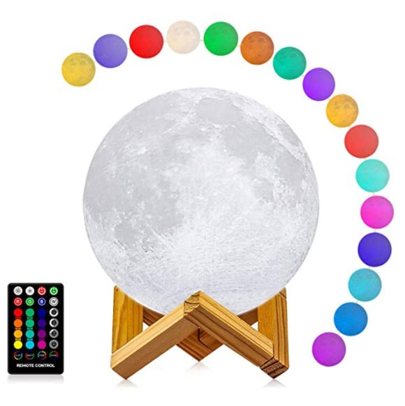 Moon light lamp with 16 colors home decor 3D printing