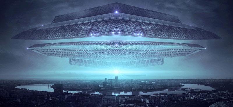 Alien spacecraft visiting earth