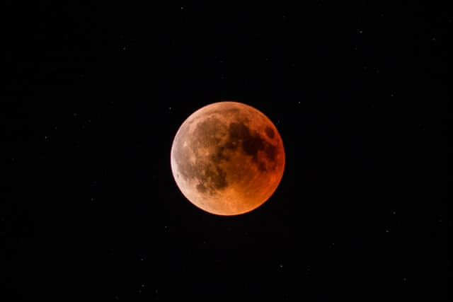 red moon during a lunar eclipse